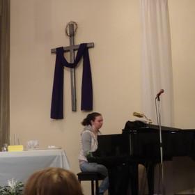 Emma playing piano