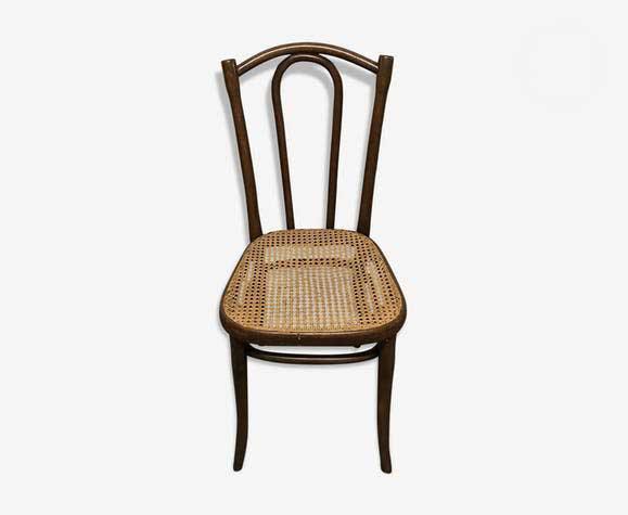 Chaise de bistrot cannée thonet vintage