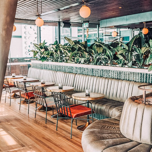 Smoke bar Barangaroo- Custom banquette seating