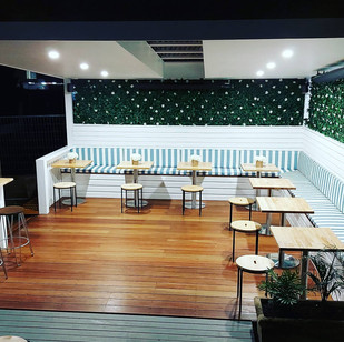 Chapman Lane Cafe Gymea- Outdoor bench seating