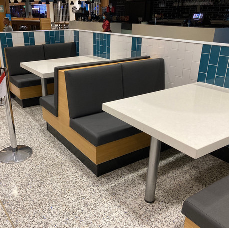 Sydney Airport- Re-upholstered booth seating