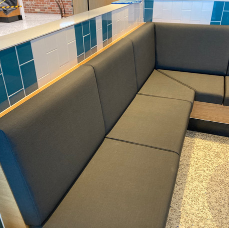 Sydney Airport- Re-upholstered banquette seating