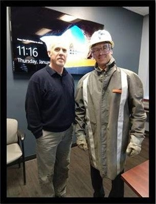 Pictured left to right is Jeff Joldrichsen, VP of Operations with Dean Toole, UT.