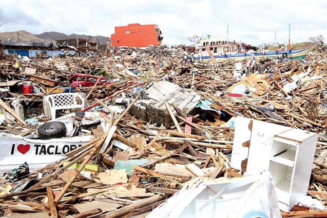 Typhoon Haiyan caused total destruction in many parts of Tacloban..png