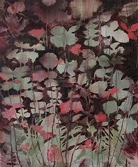 Fjärilsblommor grön, 45x37 cm kopia.jp