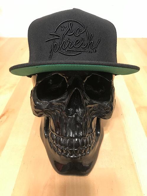 Black 3D/Puff Round SoPhresh! SnapBack Hat