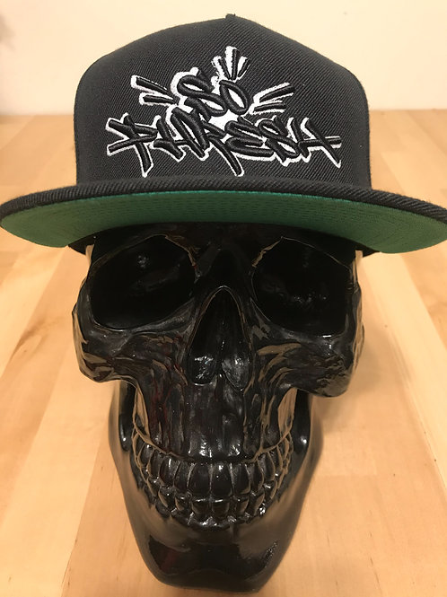 Black 3D/Puff Graff SoPhresh! SnapBack Hat