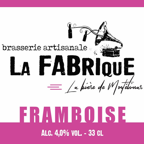 Bouteille 33cl Framboise