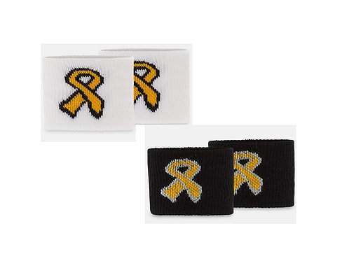 Gold Ribbon or Gold Sweat Wrist-Bands