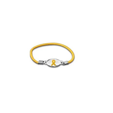 Gold Ribbon Stretch Bracelet