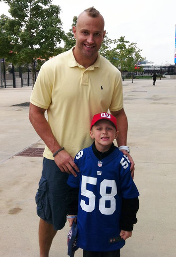 Sean and his hero, NY Giants Mark Herzlich!