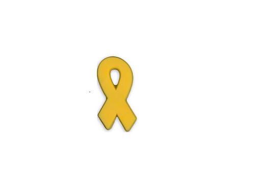Gold Ribbon Silicone Pin