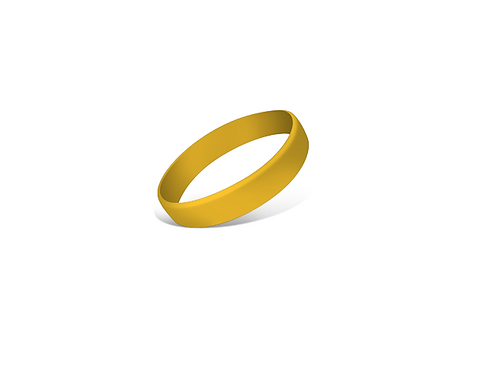Gold Silicone Bracelet/Band