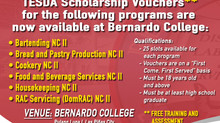 TESDA Scholarship Vouchers Available!