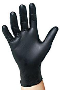 Black Nitrile Powder Free Gloves (Size L)