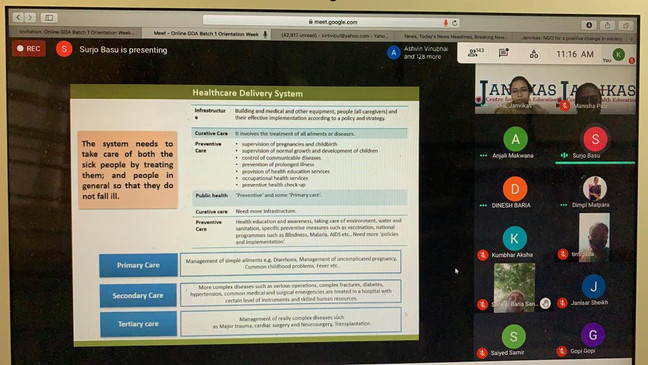 Still form Online Frontline Health worker training.