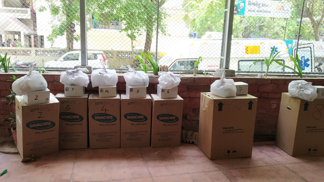 Oxygen concentrators ready to go to the selected underprivilaged areas..
