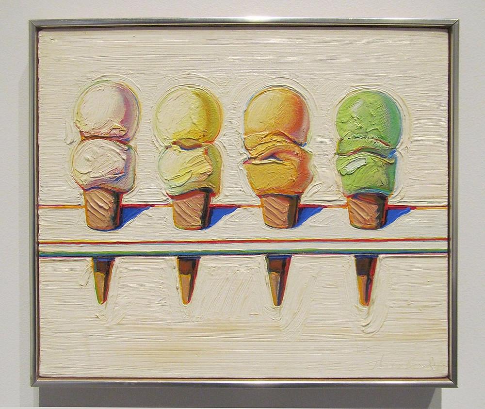 imagen Wayne Thiebaud, Four Ice Cream Cones