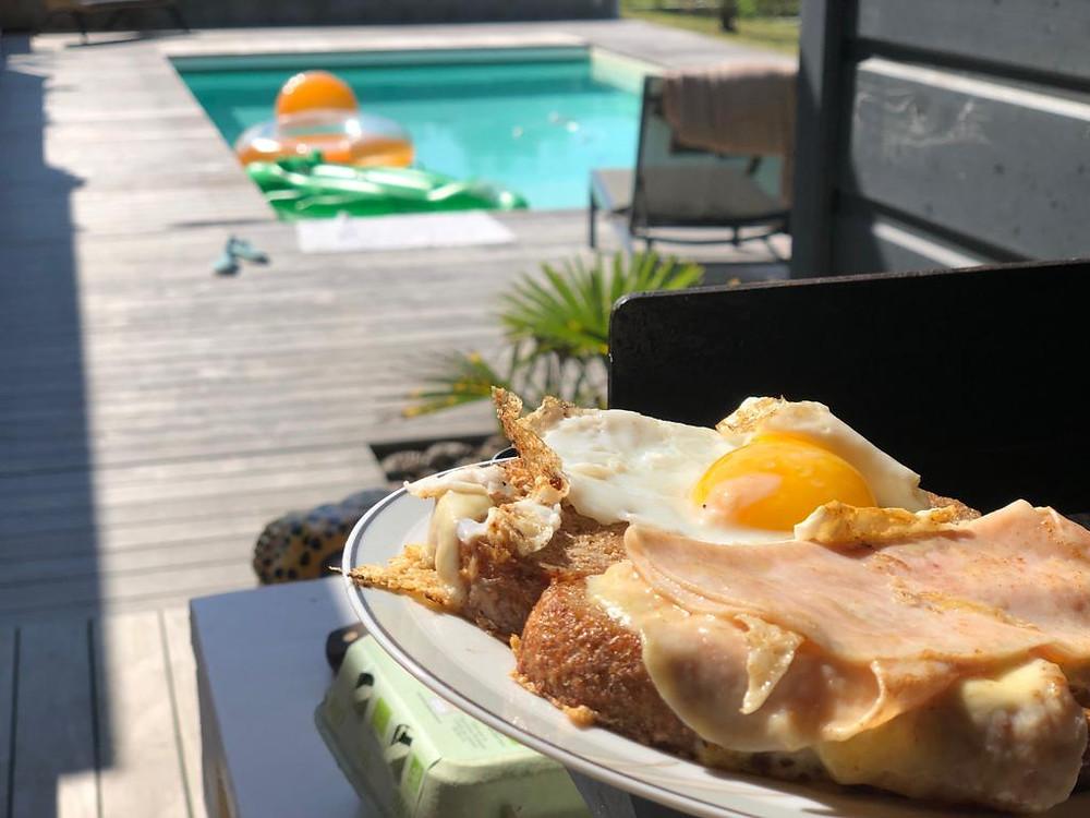 croque madam desayuno