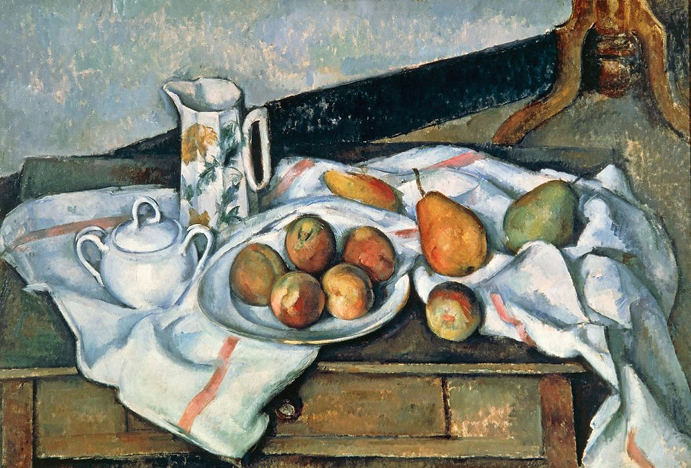 Still Life of Peaches and Pears, 1888-1890 | Paul Cézanne (Pushkin Museum, Moscow, Russia / Bridgeman Images)