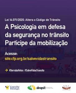 Psicólogas/os se mobilizam contra alteração no Código de Trânsito