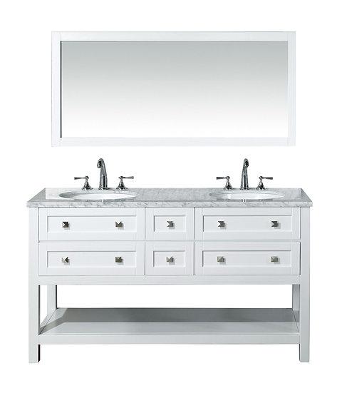 "Marla 60"" Double Sink Vanity with Mirror"