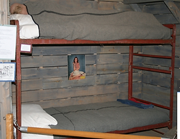 Replica of sleeping quarters used by prisoners of war at WWII Internment Camp B/70 in Ripples, New Brunswick (30 km east of Fredericton, NB)