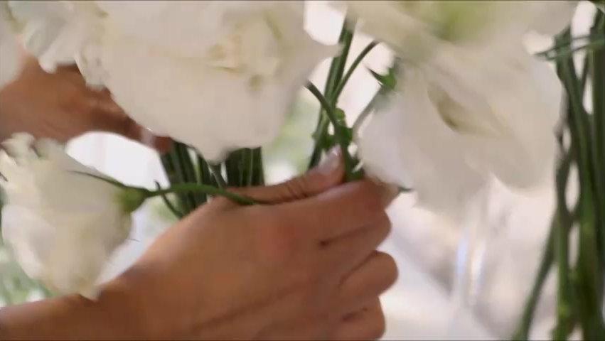 Ramo de flores con técnica espiral