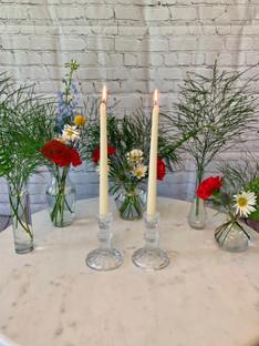 Cyrstal Candlestick Holders