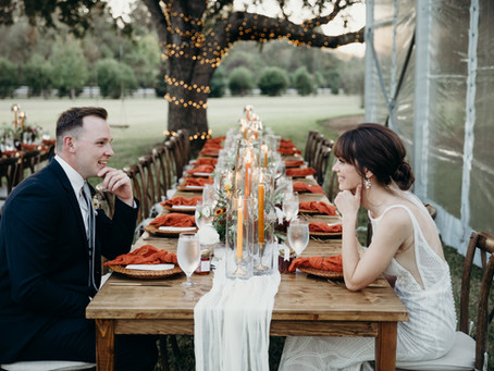 Warm and Earthy Backyard Wedding | Pattison, Texas