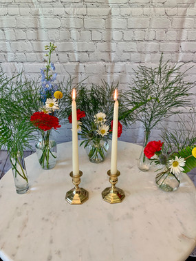 Gold Candlestick Holders