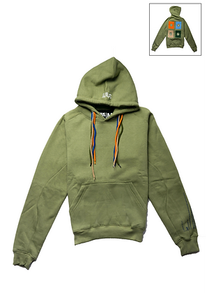 Hoodie Light Green Square