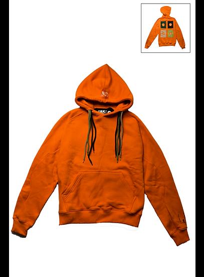 Hoodie Orange Square