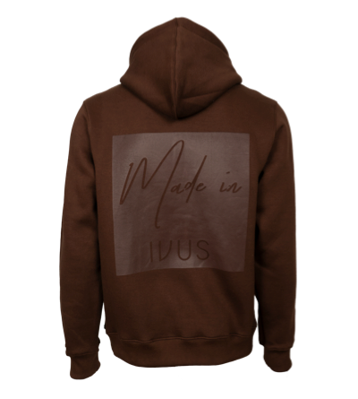 Hoodie - Made In Square Brown