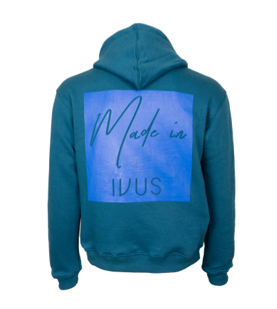 Hoodie - Made In Square Blue