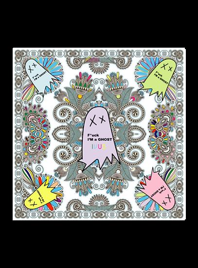 Bandana - F I'm a Ghost - Grey