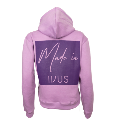 Hoodie - Made In Square Lila