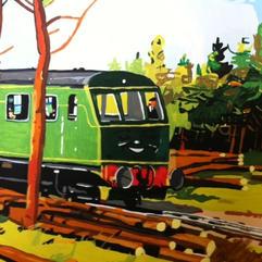 Daisy the Diesel Rail Car