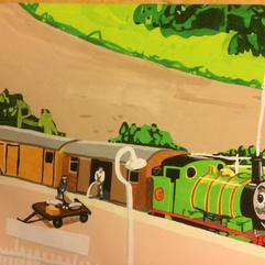 Percy and the Mail Train at Ffarguhar