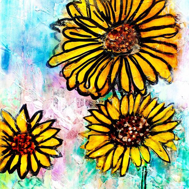 Neon Sunflower - Print