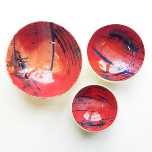 Abstract Bowl Set