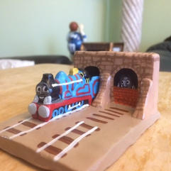 The Green Engine Bricked Up in the Tunnel Clay