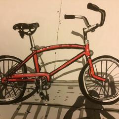(SOLD) Vintage Firecracker Red Schwinn Bicycle