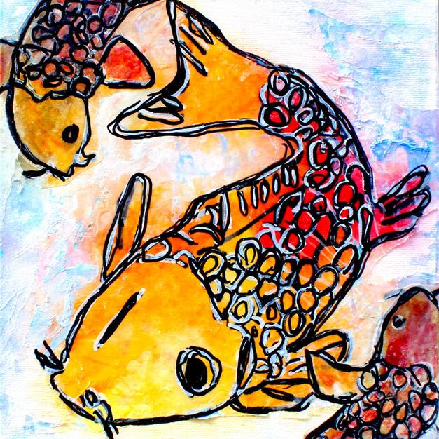 (SOLD) Koi Fish