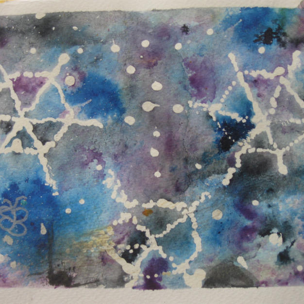 Blues and Purples Snowflakes