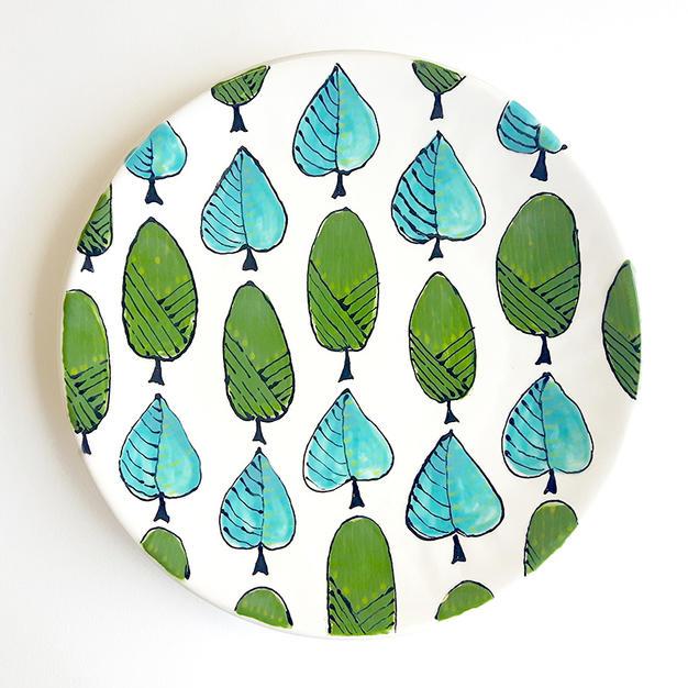 Leaf Patterned Plate