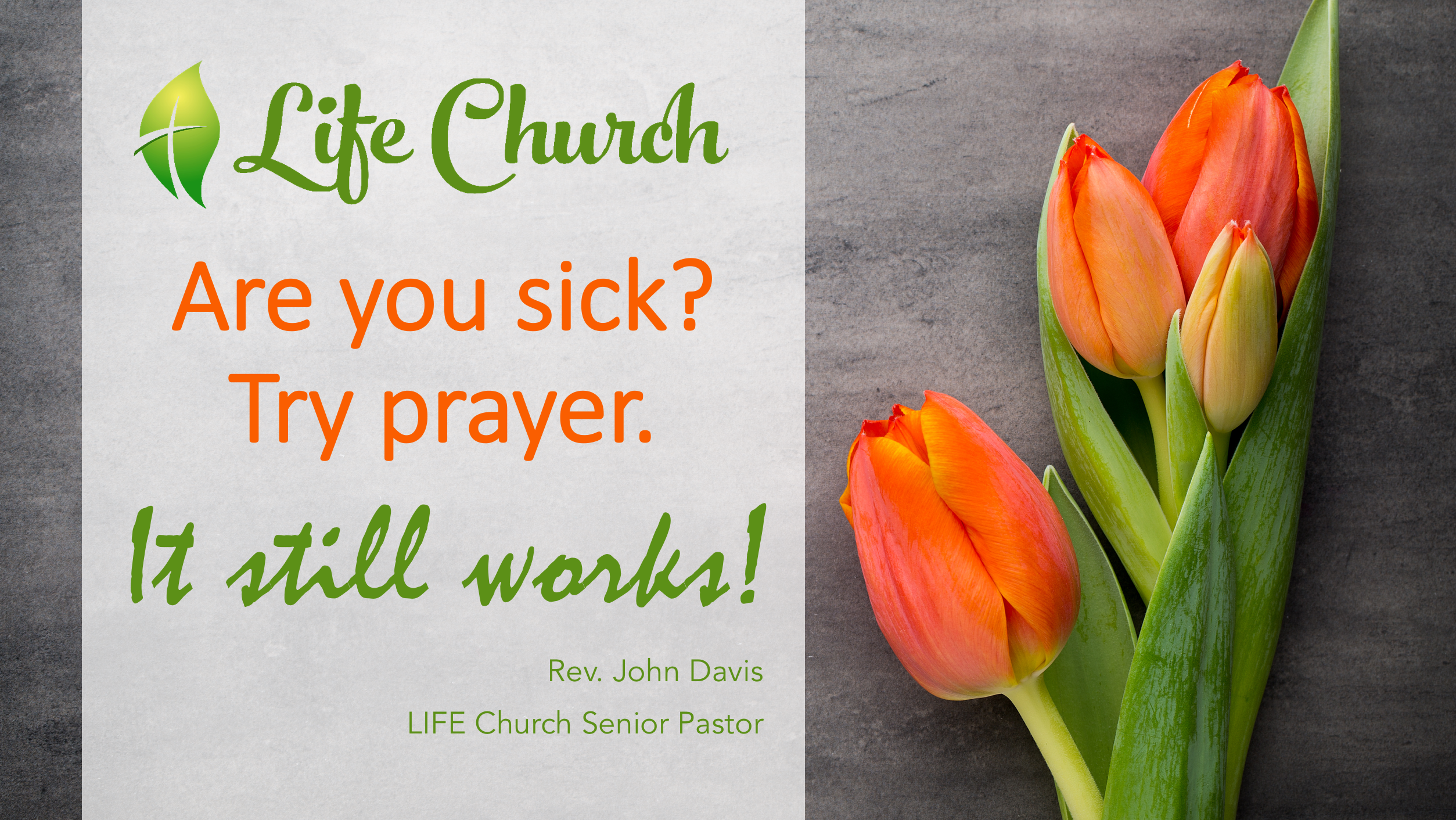 LIFE Church - Facebook - Try prayer