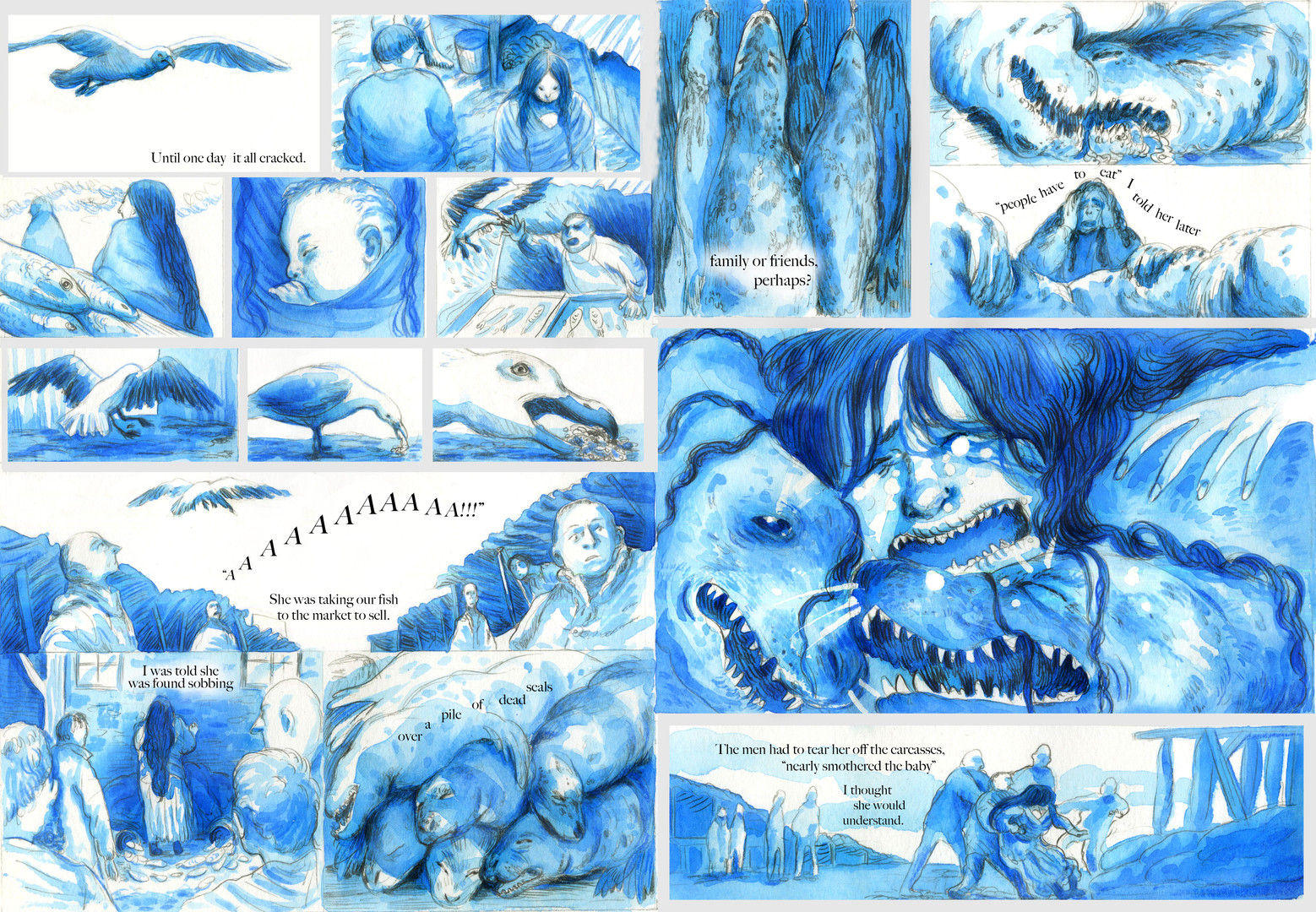 """From my final year of my Illustration degree. Titled """"Ruin"""" a story based on an old folktale of the Selkie bride."""