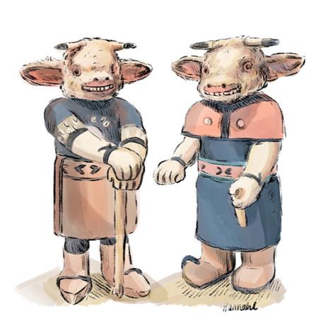 Katsina cow dolls