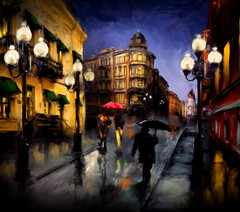 Rainy Night in Olde Town